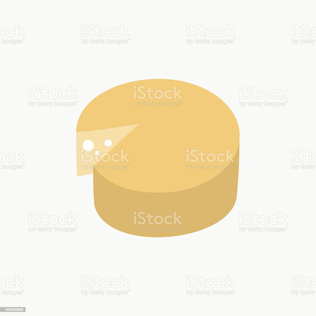 Cheese Icon royalty-free stock vector art