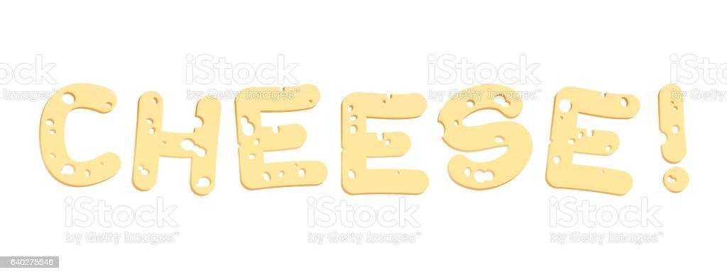 Cheese Letters vector art illustration