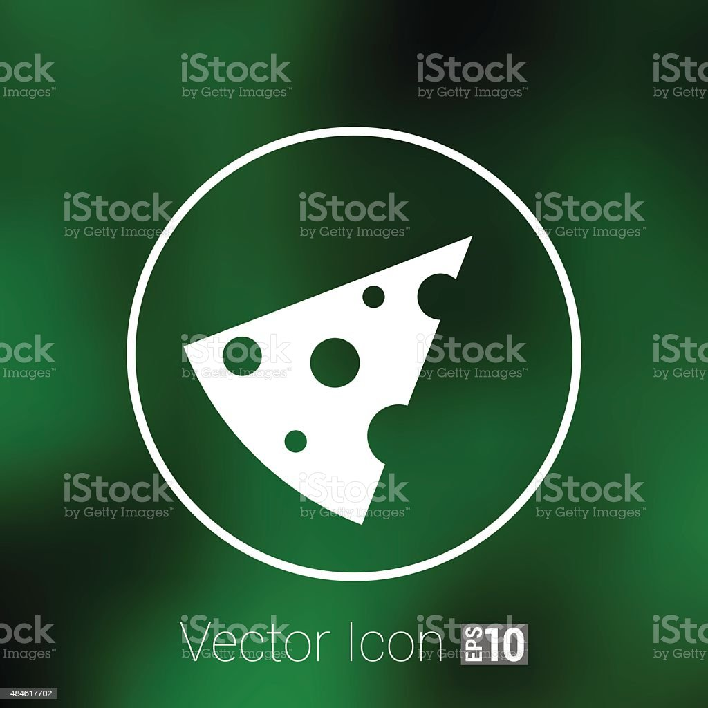 cheese logo snack eating fat vector, template icon vector art illustration