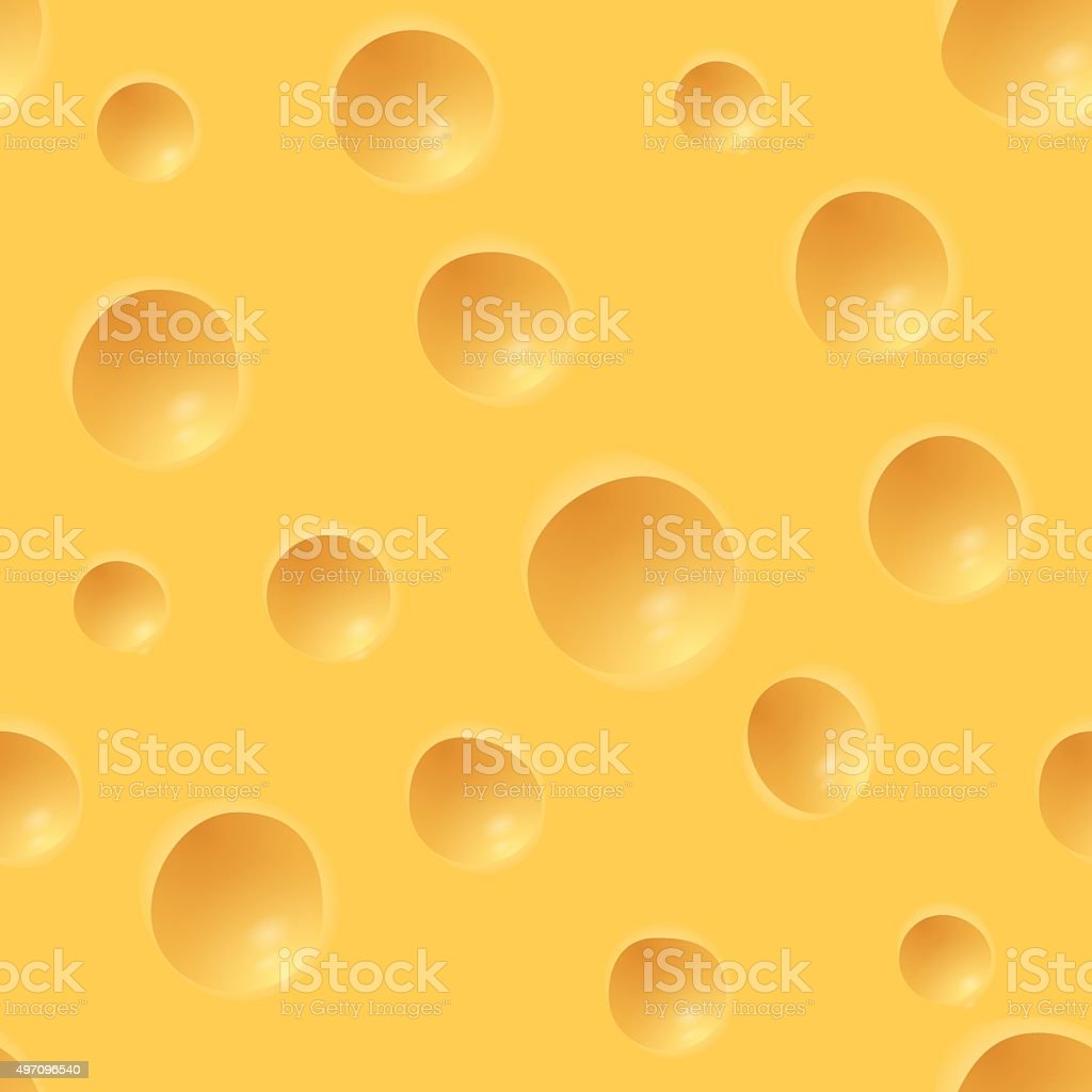 Cheese Pattern vector art illustration
