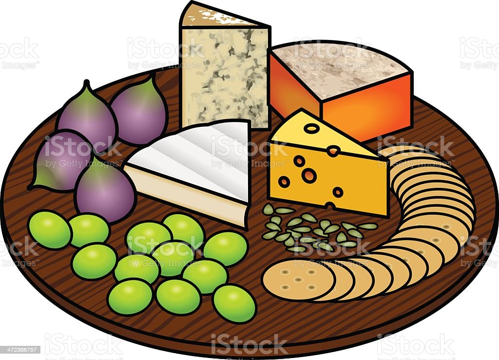 Cheese Platter royalty-free stock vector art
