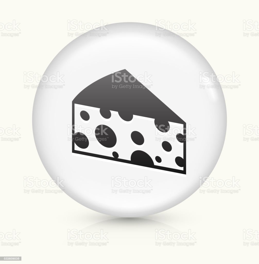 Cheese Slice icon on white round vector button vector art illustration