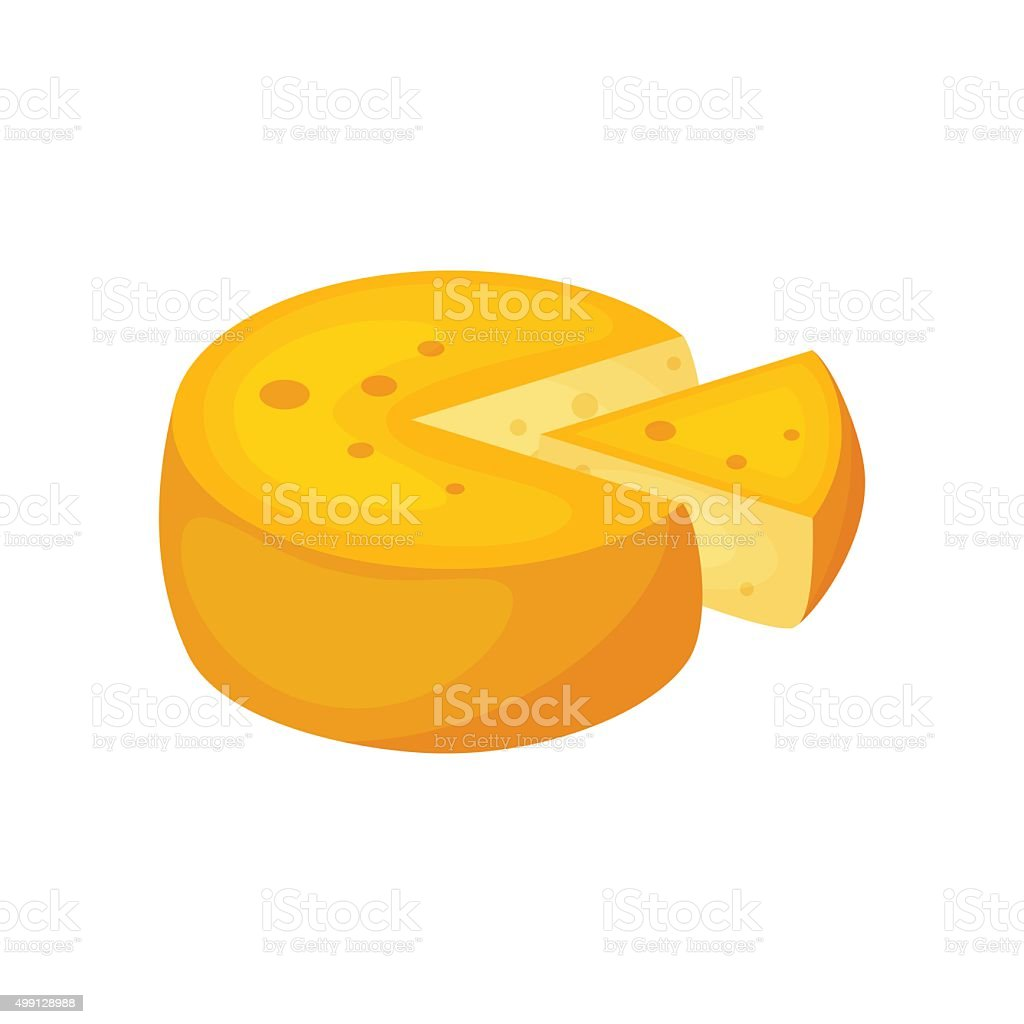 Cheese vector art illustration