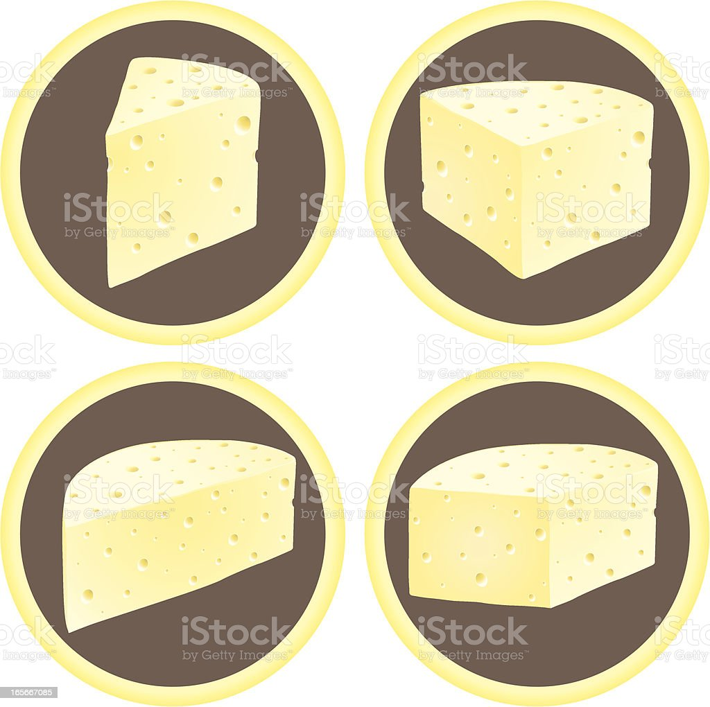 Cheese Wedges royalty-free stock vector art