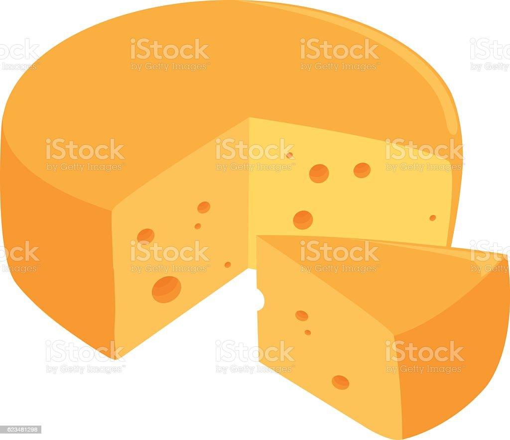Cheese wheel vector art illustration