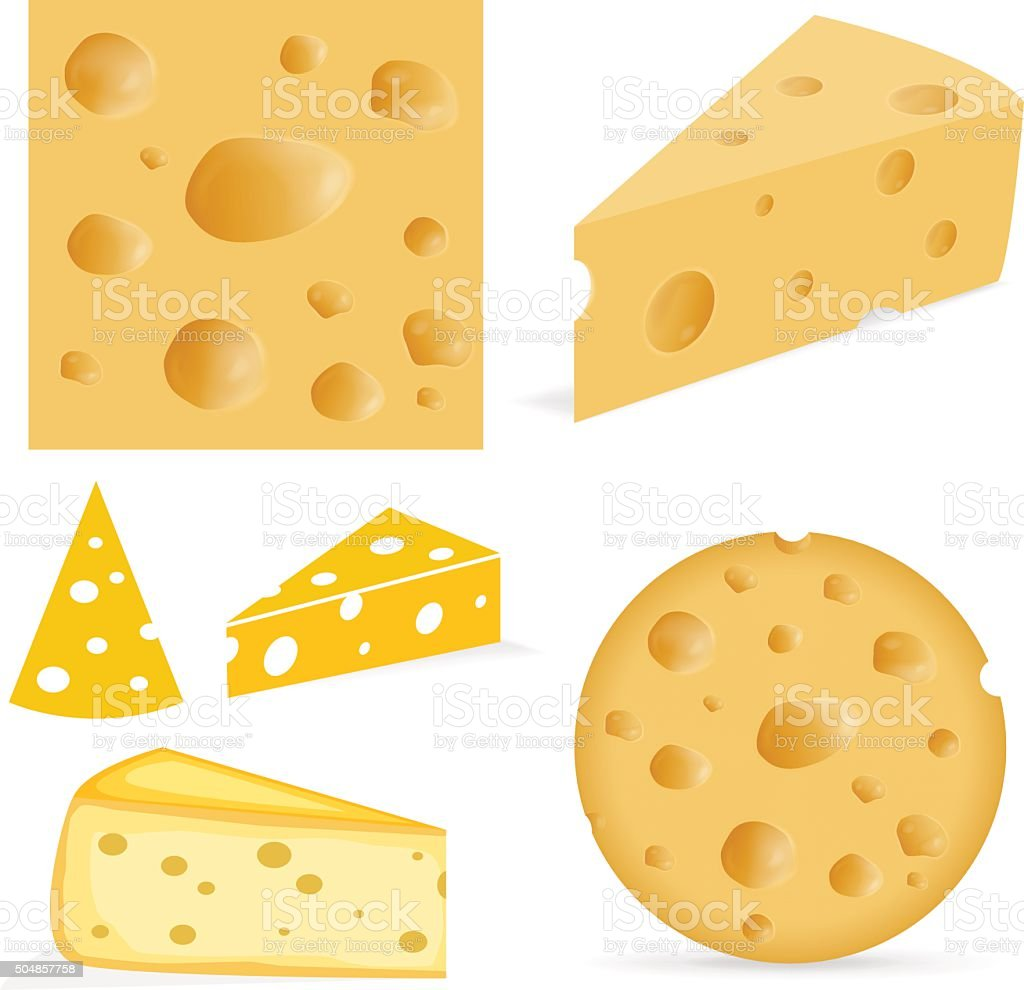 Cheese with holes vector art illustration