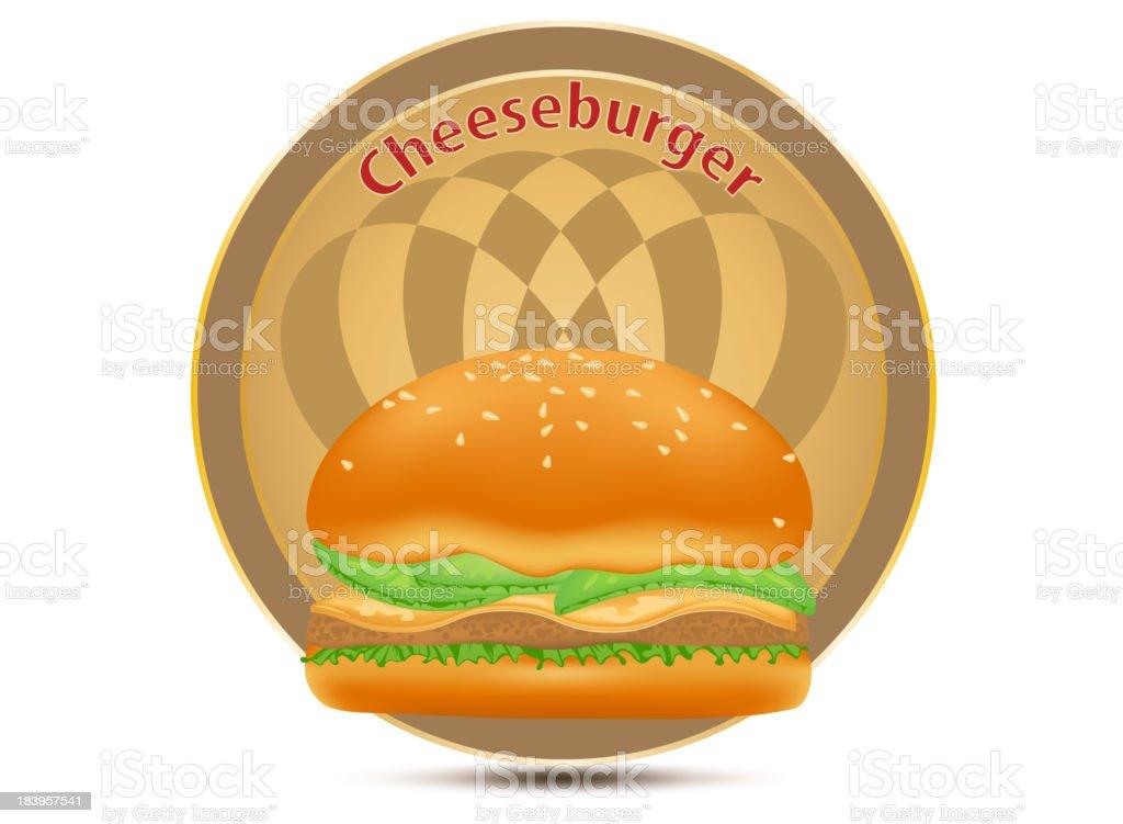 Cheeseburger label royalty-free stock vector art