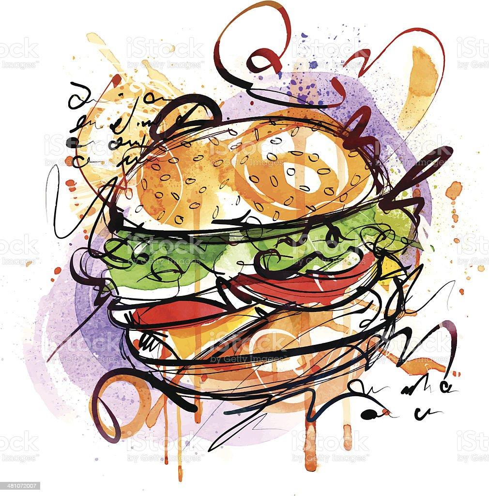 Cheeseburger royalty-free stock vector art
