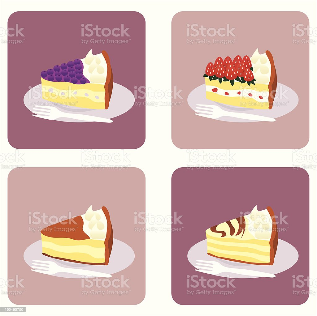 cheesecake set royalty-free stock vector art