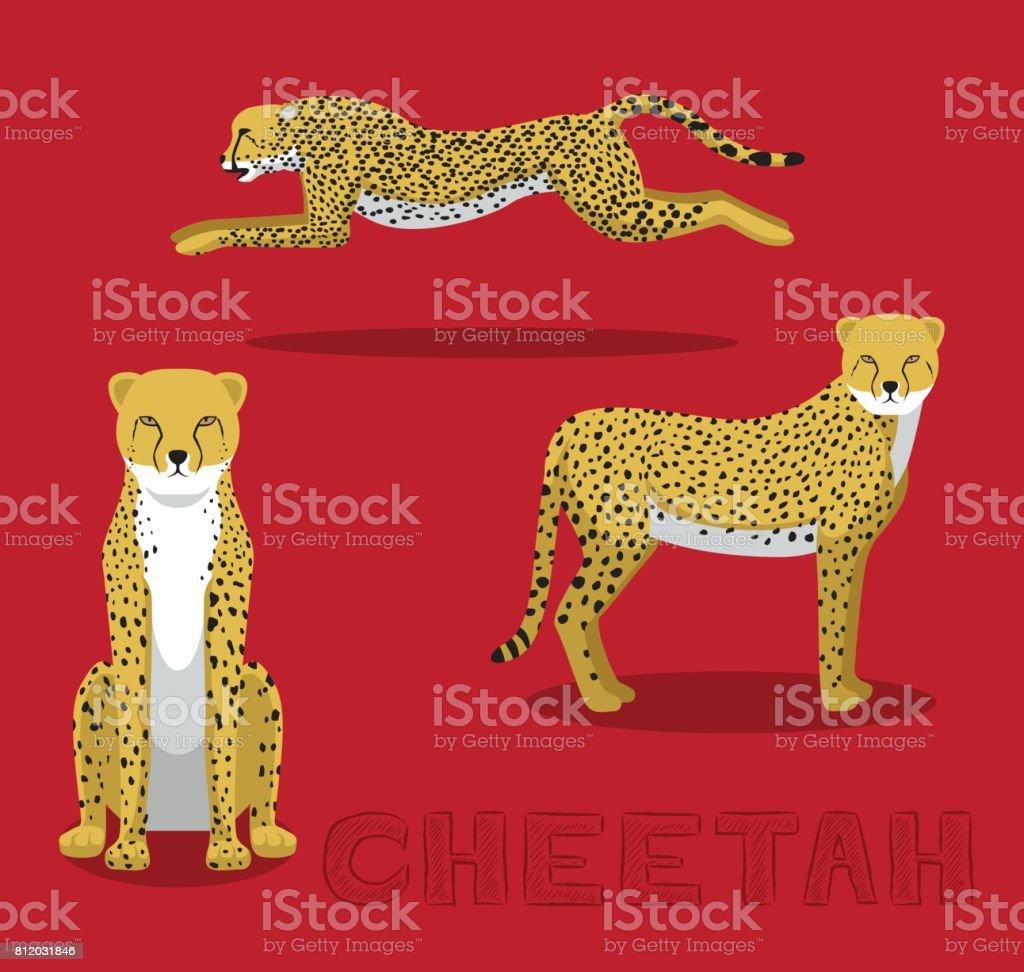 Cheetah Cartoon Vector Illustration vector art illustration