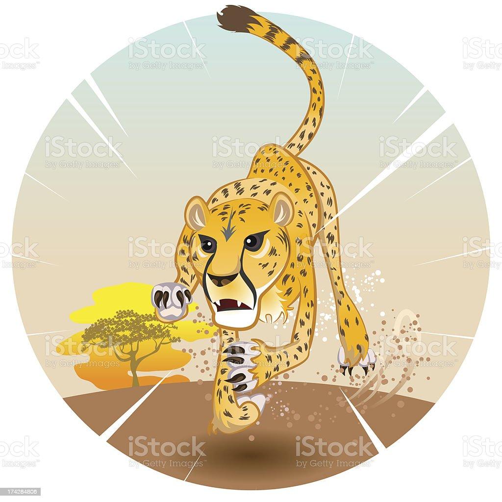 Cheetah King of Speed royalty-free stock vector art