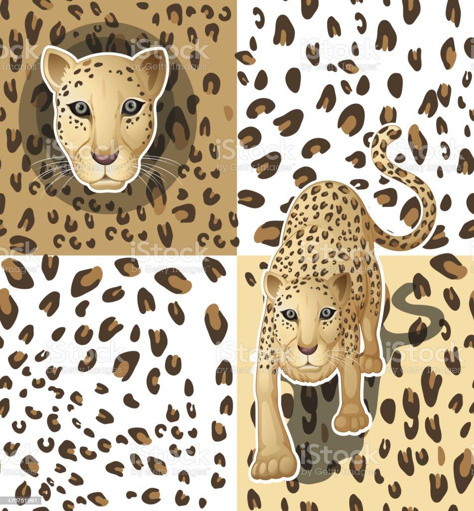 Cheetah vector art illustration