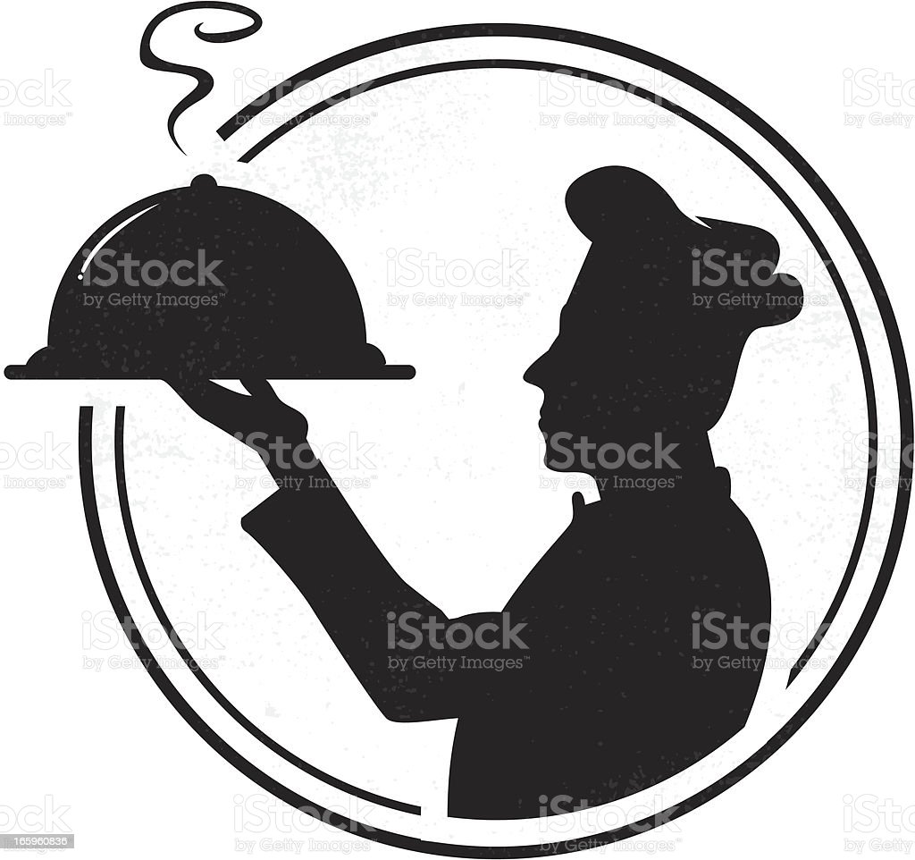 Chef badge vector art illustration
