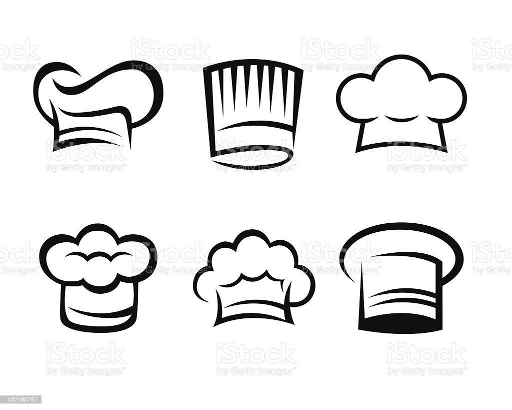 Chef hat collection royalty-free stock vector art