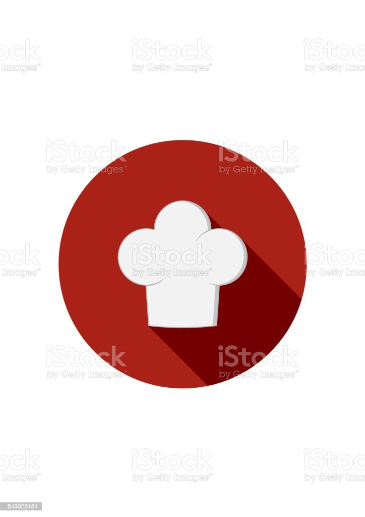 Chef hat icon isolated on white background. Clothing cook in flat style. Vector Illustration vector art illustration