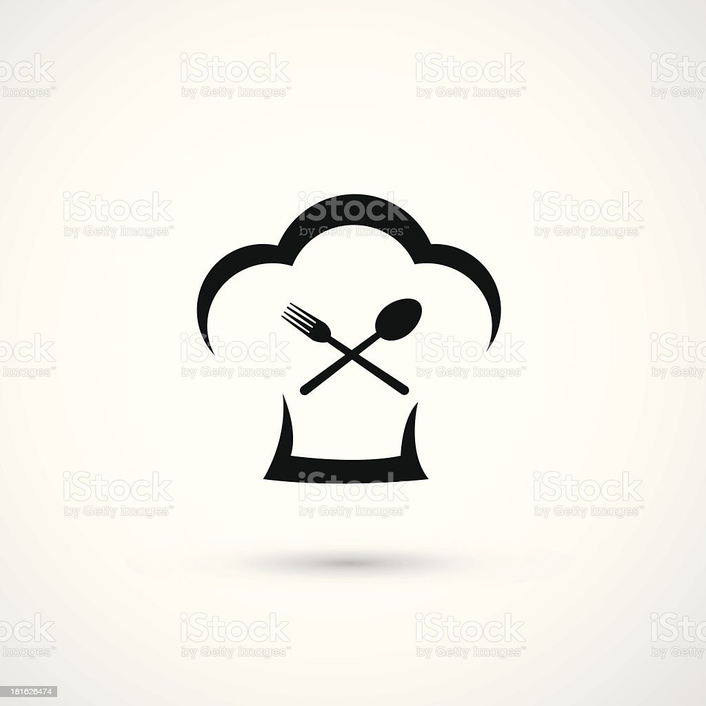 Chef Hat Icon royalty-free stock vector art