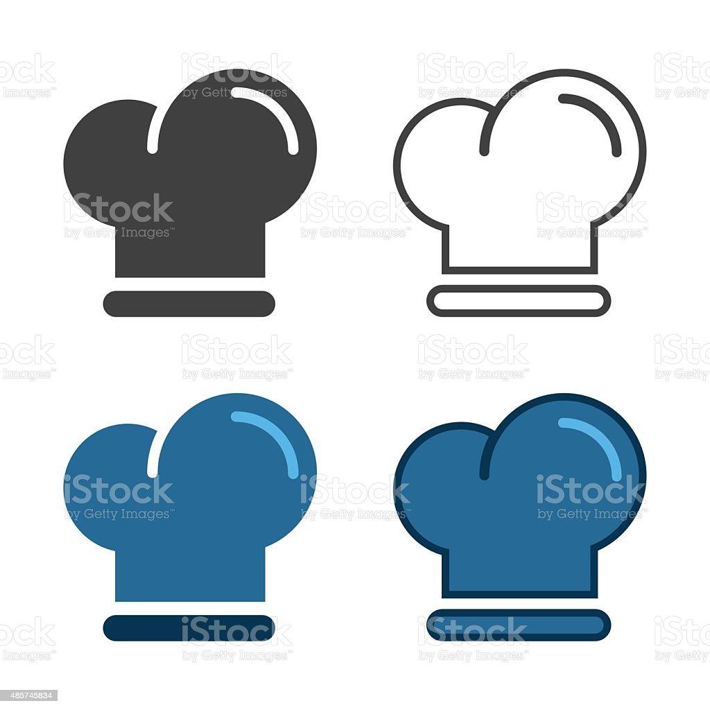 Chef Hat Icon vector art illustration