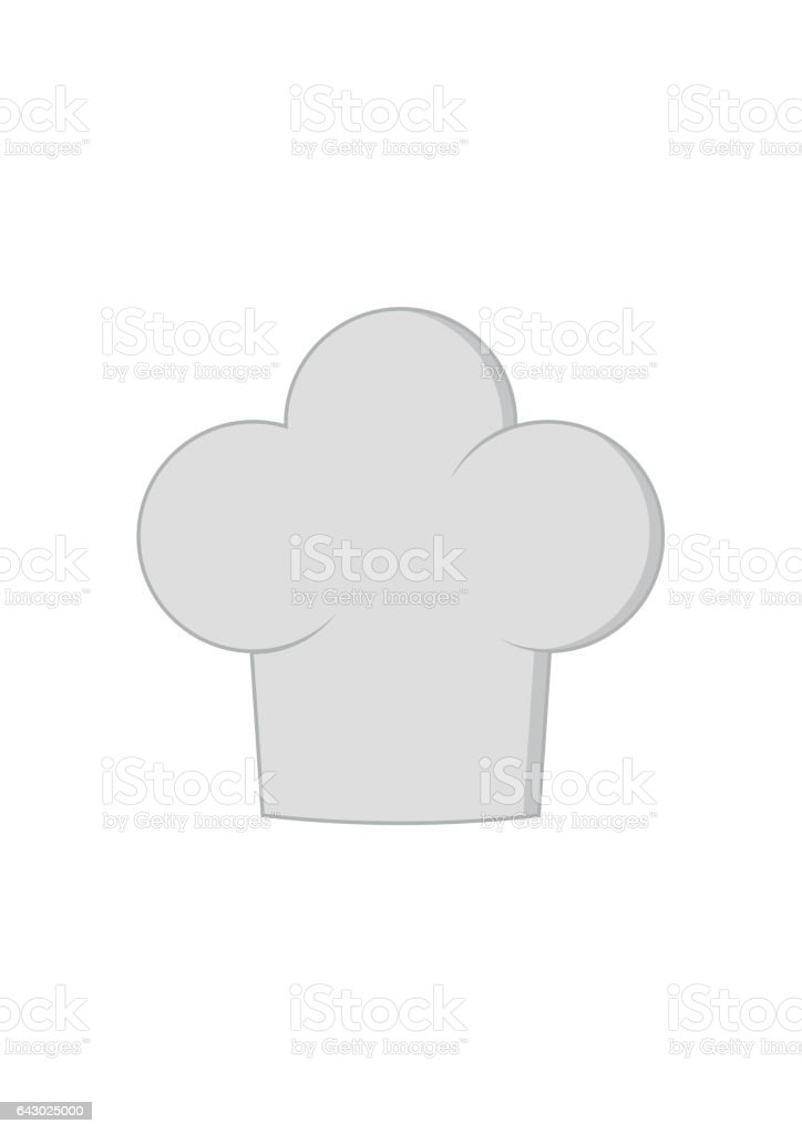 Chef hat isolated on white background. Clothing cook in flat style. Vector Illustration vector art illustration