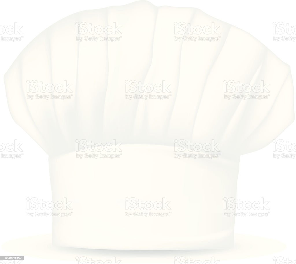 Chef hat isolated on white background royalty-free stock photo