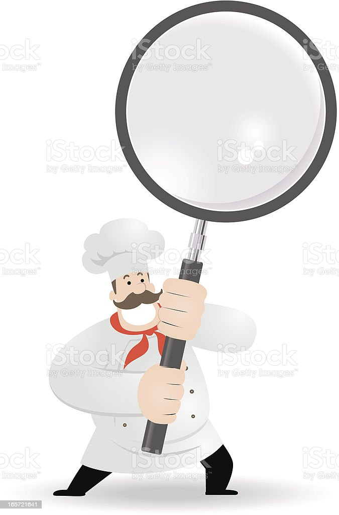 Chef Holding A Magnifier royalty-free stock vector art