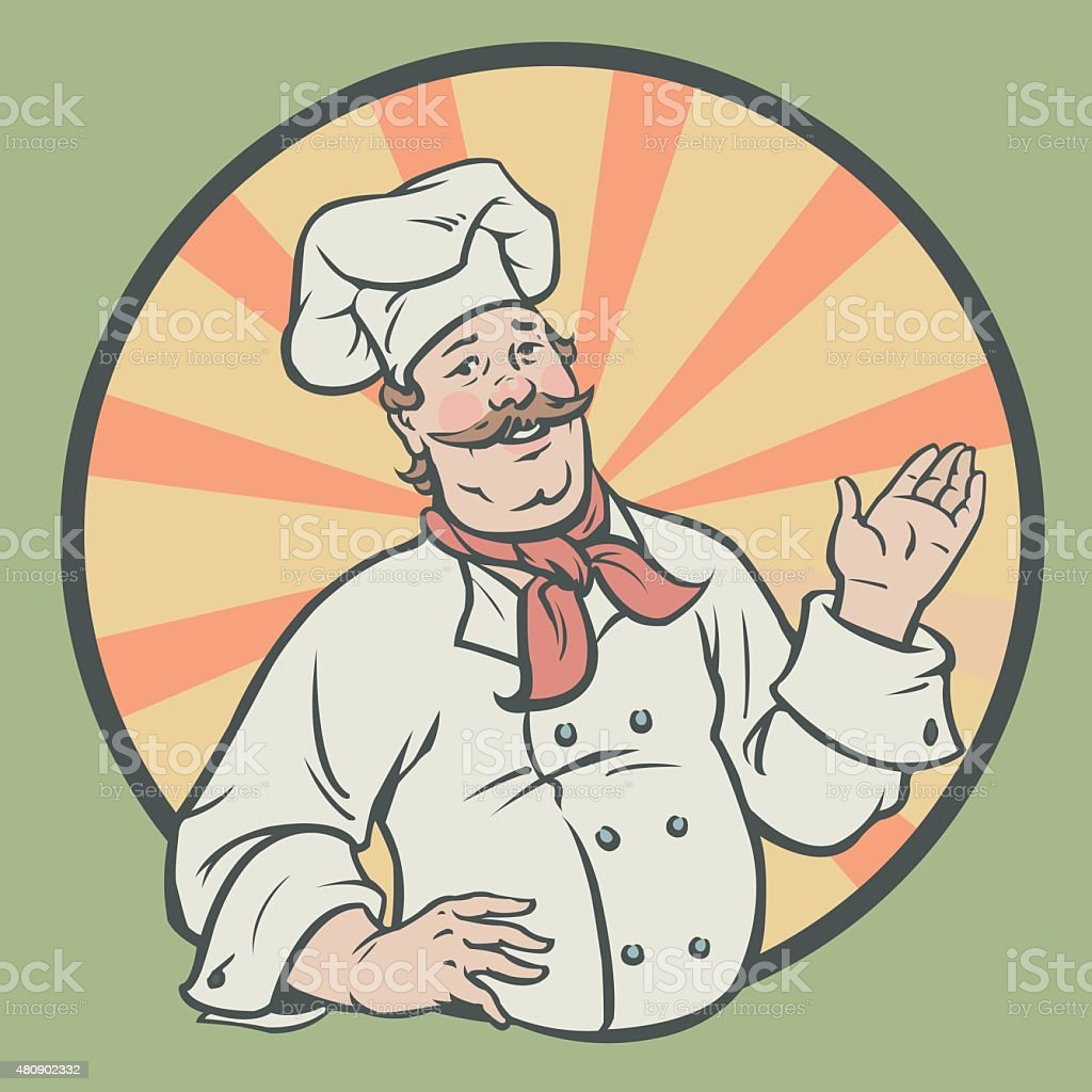 Chef in a retro style royalty-free stock vector art