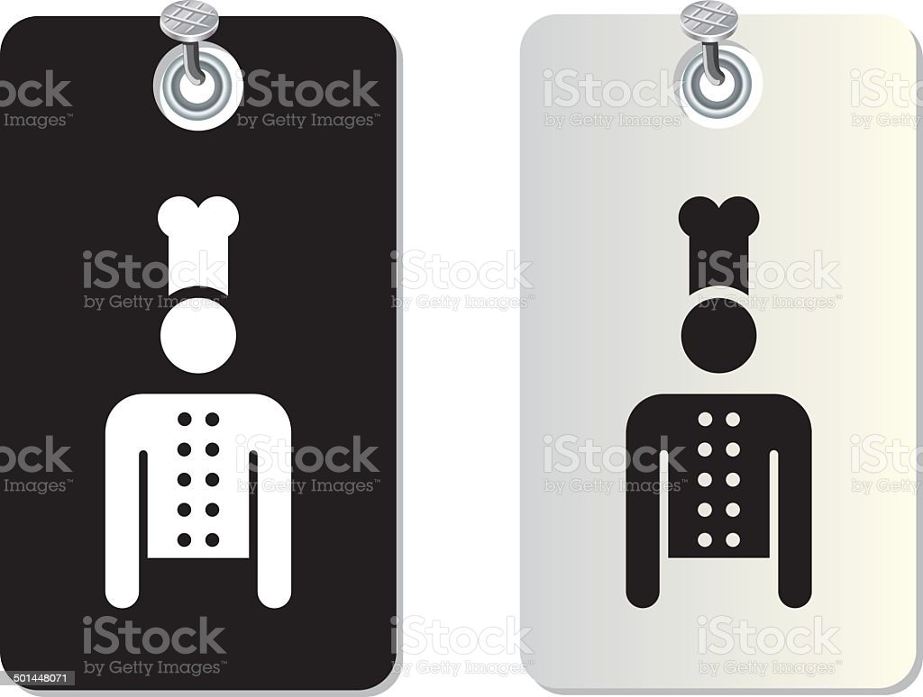 chef label tag vector art illustration