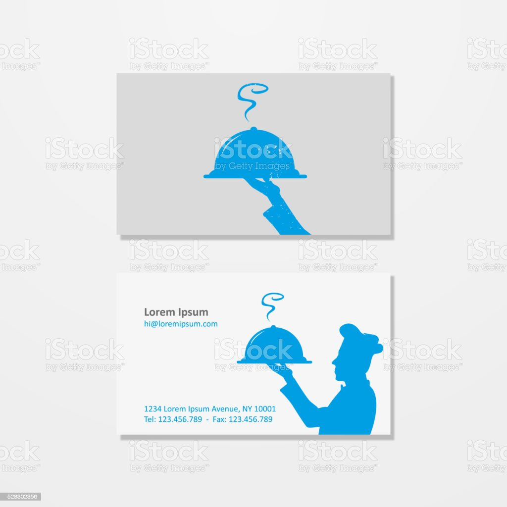 Chef logo and business card vector art illustration