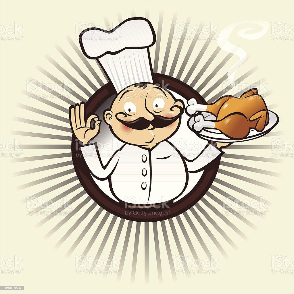 chef menu chicken royalty-free stock vector art
