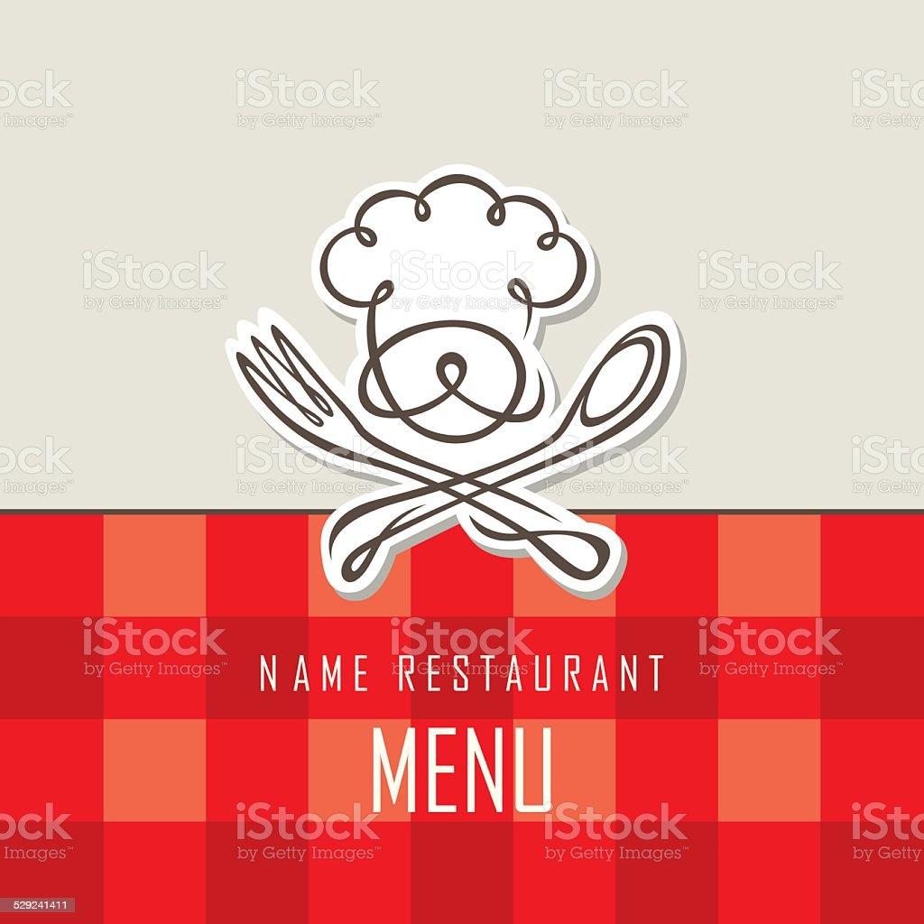 chef menu design vector art illustration