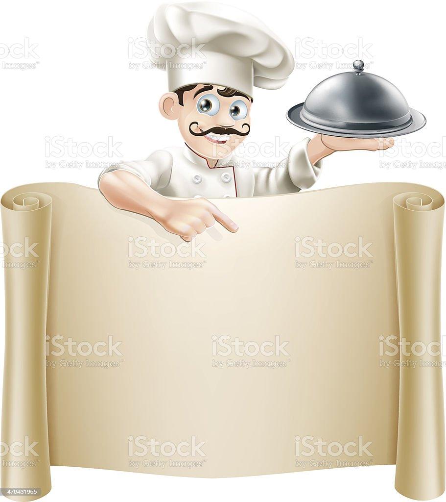 Chef Menu Scroll royalty-free stock vector art