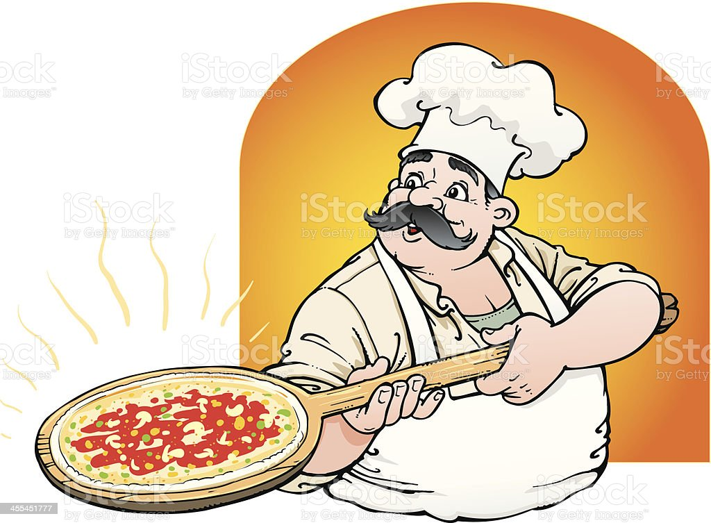 Chef pizza royalty-free stock vector art