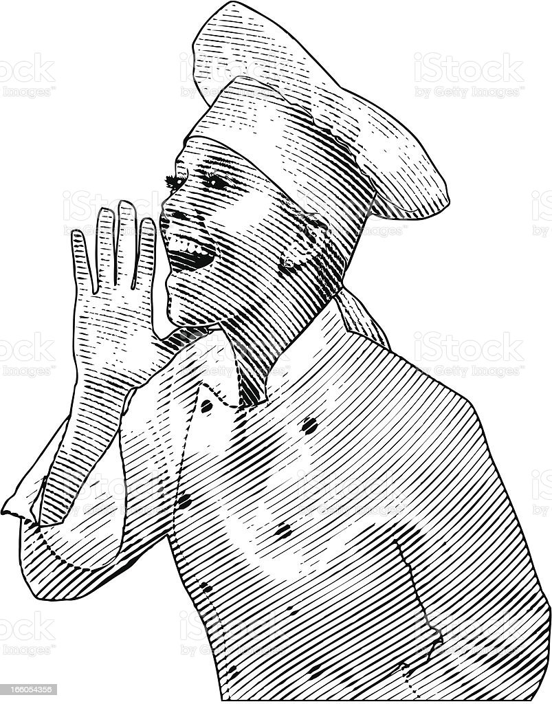 Chef Shouting royalty-free stock vector art