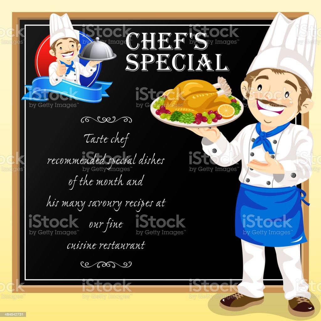 Chef Special vector art illustration