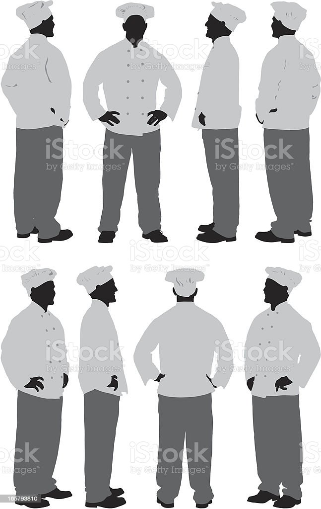 Chef standing royalty-free stock vector art