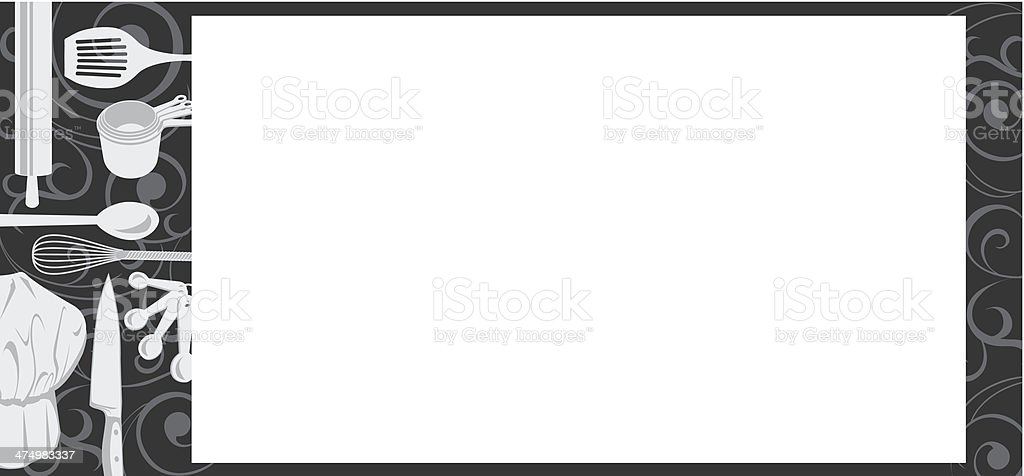 Chef Utensils Frame royalty-free stock vector art