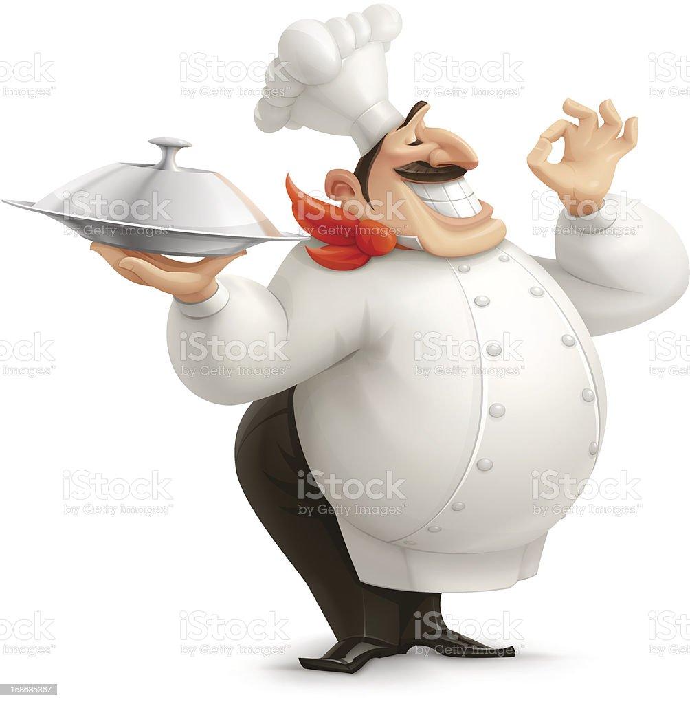 Chef vector art illustration