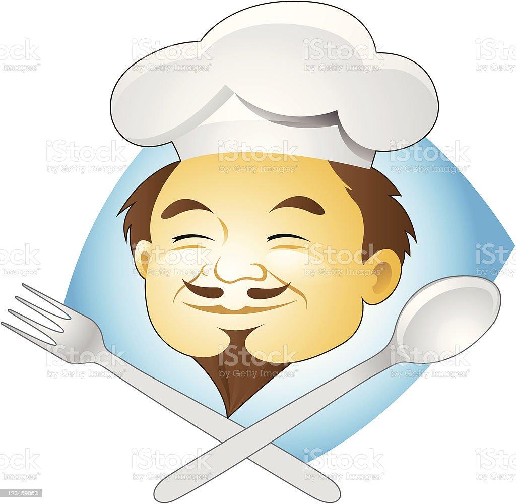 Le Chef de cuisine et des couverts stock vecteur libres de droits libre de droits