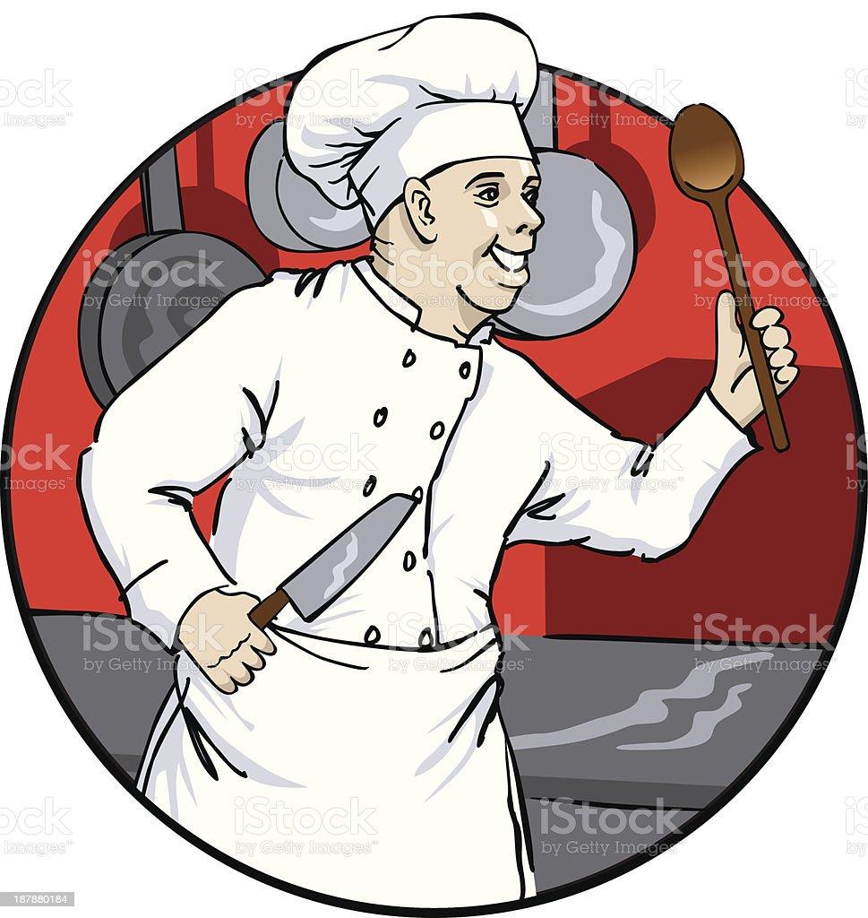 Chef_at_play royalty-free stock vector art
