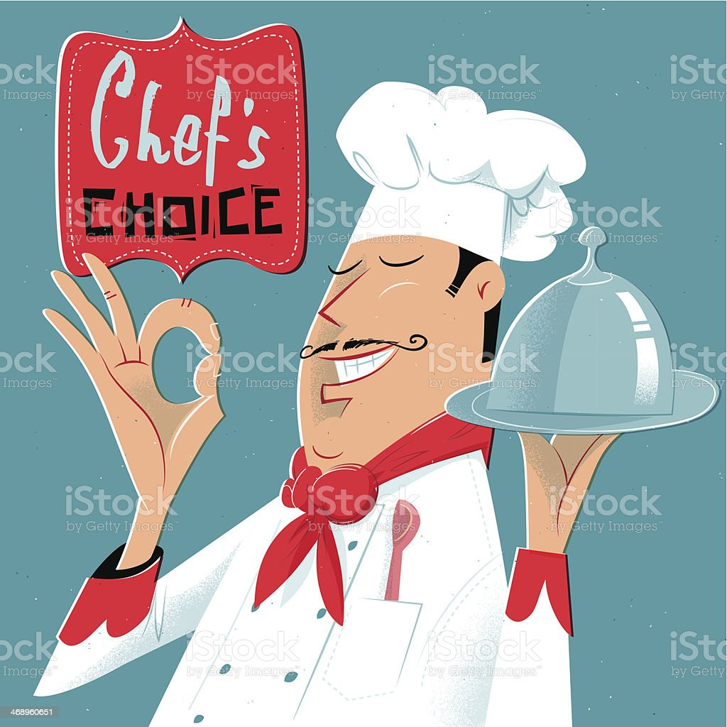 Chef's approved vector art illustration