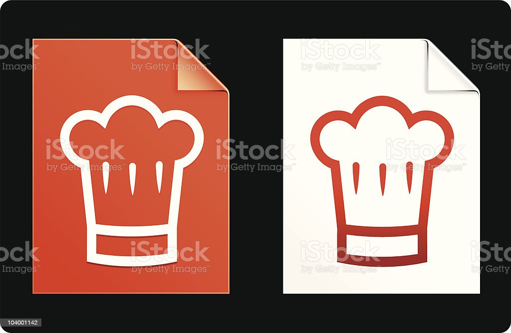 chef's hat design elements internet background royalty-free stock vector art