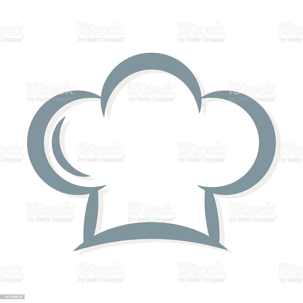chef's hat icon vector vector art illustration