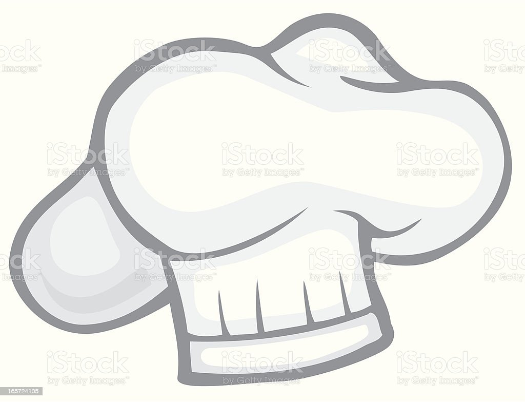 Chef's Hat Pillow Style royalty-free stock vector art