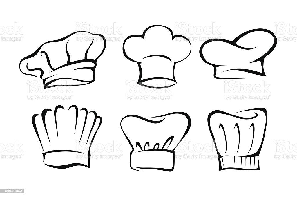 chefu0027s hat set vector art