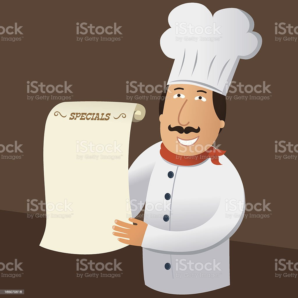 Chef's Specials royalty-free stock vector art