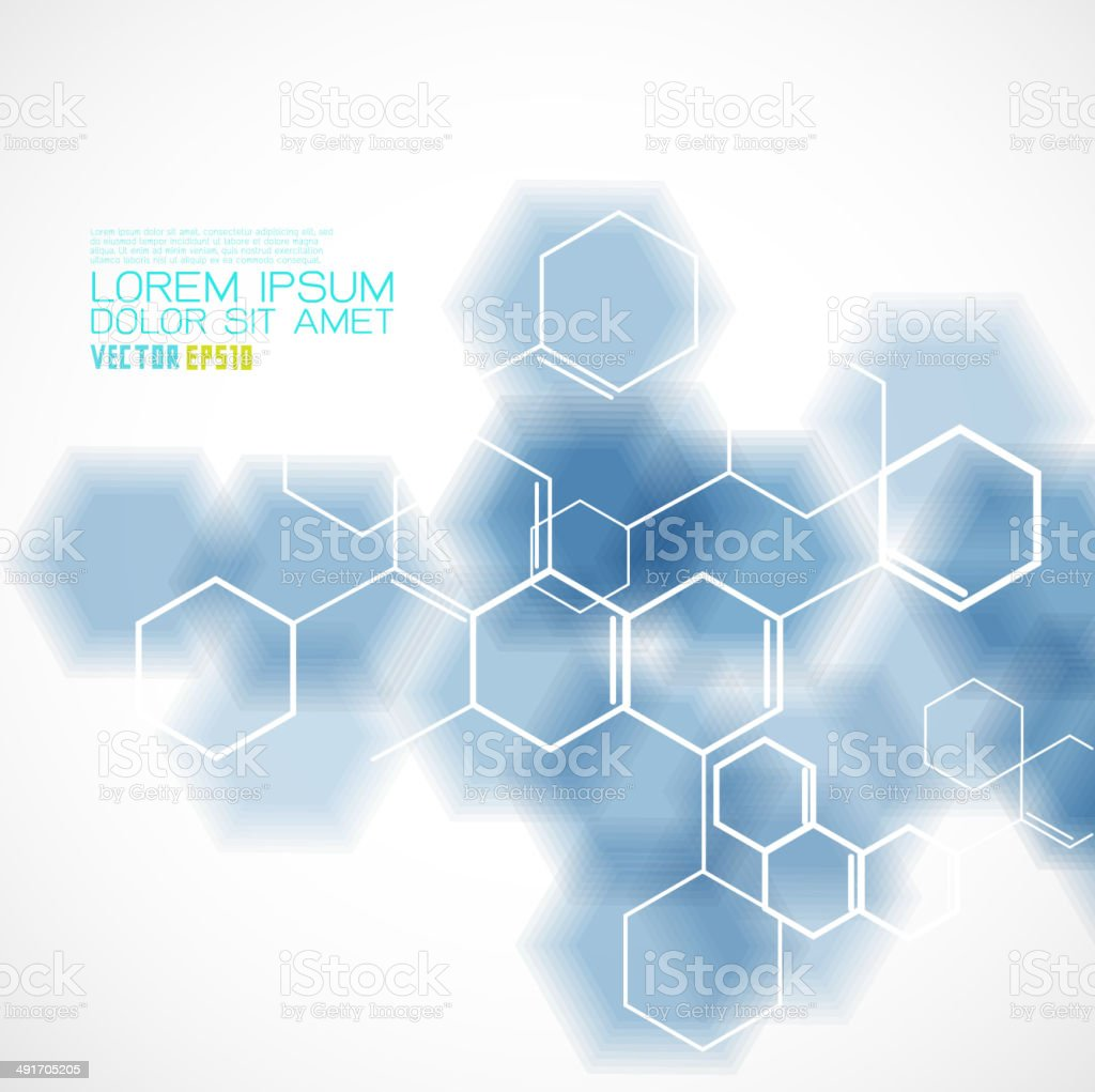 chemical and molecular concept template background, Vector illustration royalty-free stock vector art