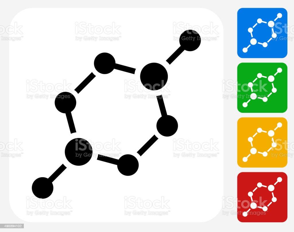 Chemical Bond Icon Flat Graphic Design vector art illustration