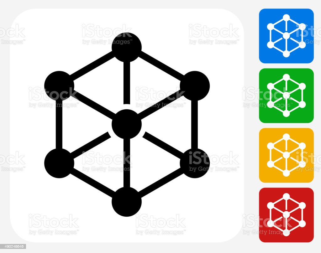 Chemical Compound Icon Flat Graphic Design vector art illustration