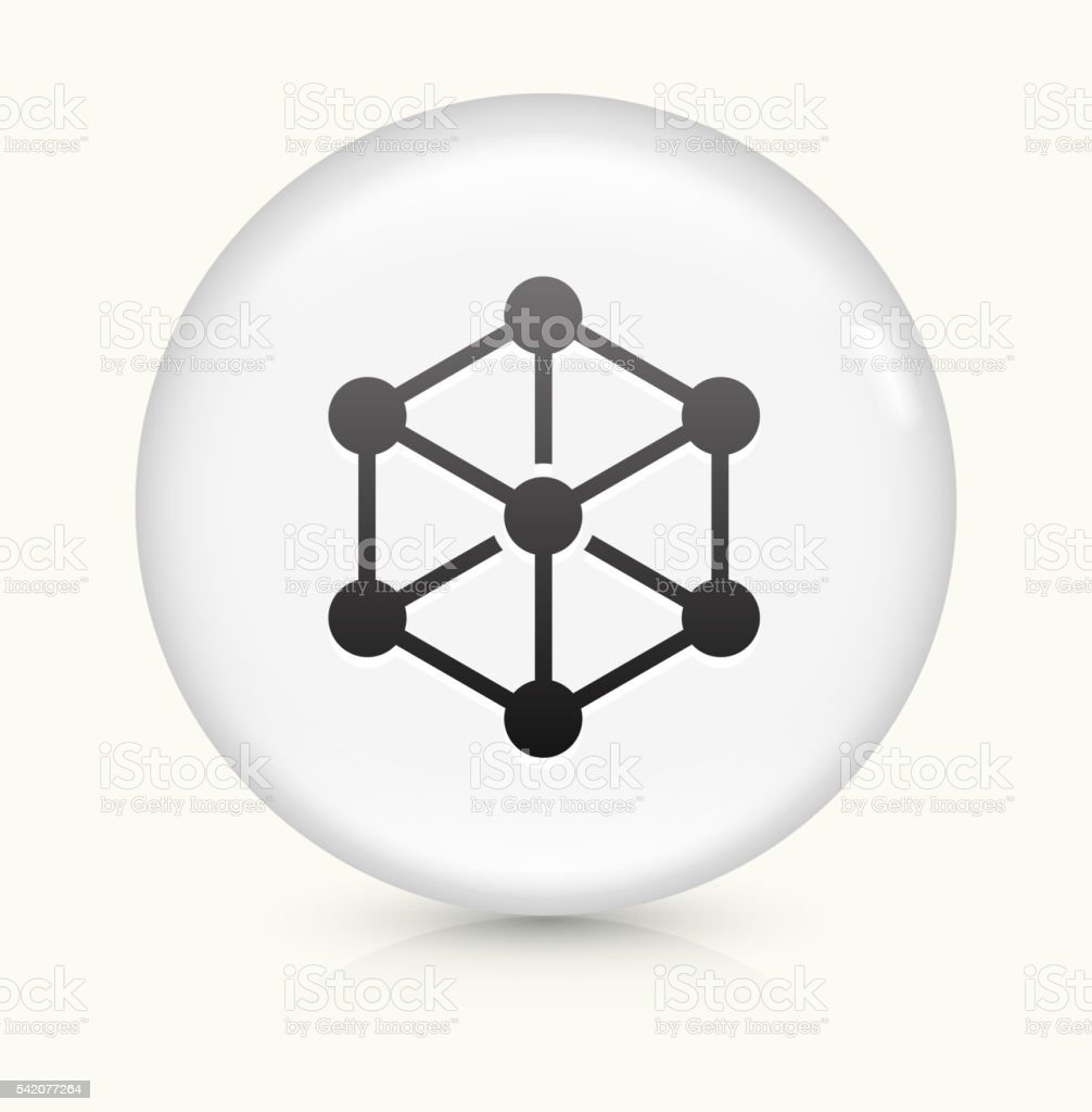 Chemical Compound icon on white round vector button vector art illustration