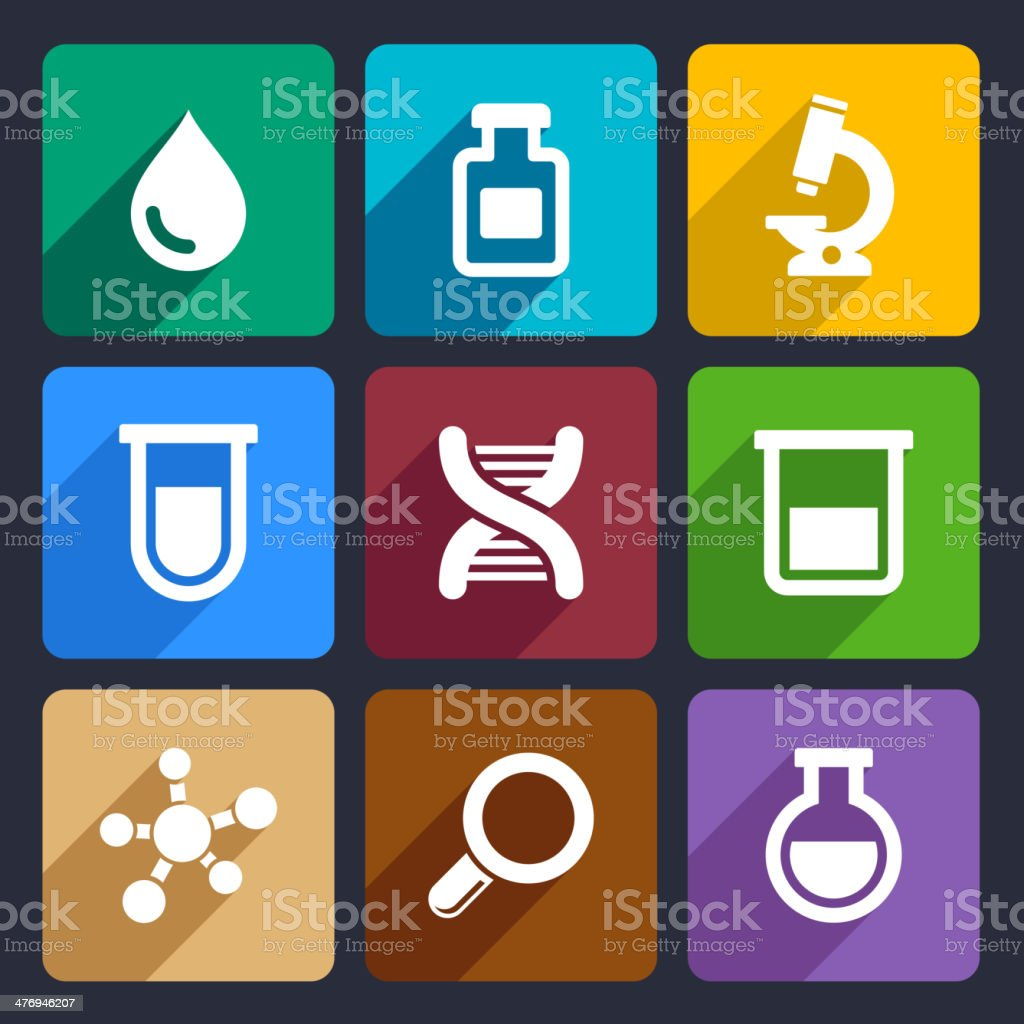 Chemical  Flat Icons Set 49 royalty-free stock vector art