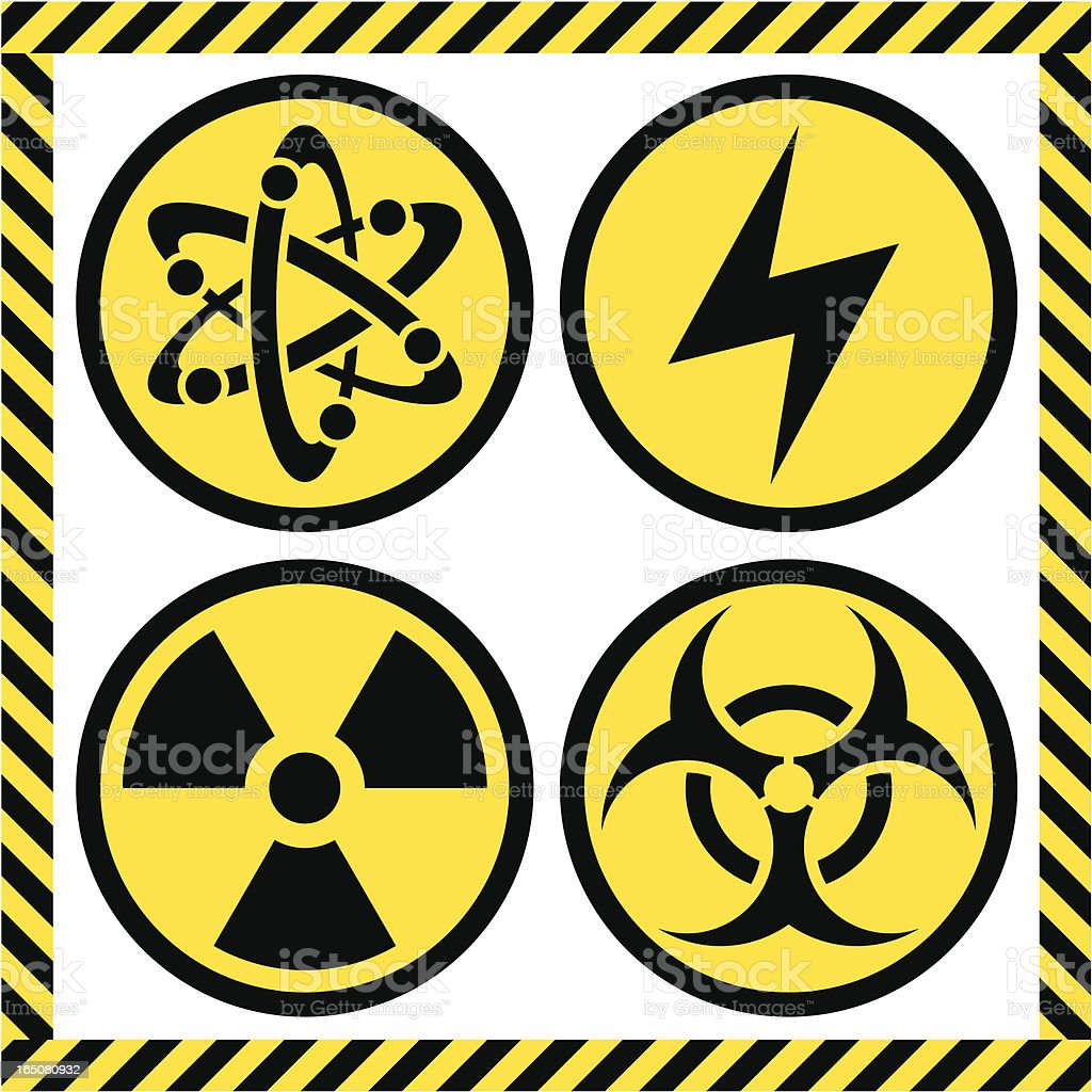 Chemical Hazard Label royalty-free stock vector art